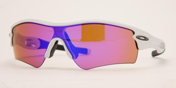 Oakley Sunglasses Radar Path 09-673 White Chrome - Blue Sunglasses