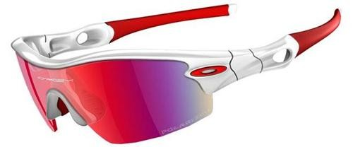 Oakley Sunglasses Radar Pitch 09-723 Polished White - Positive Red Polarise