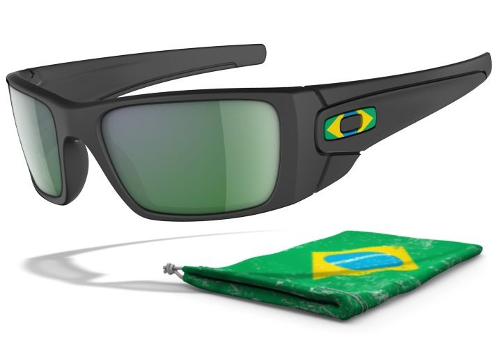 Oakley Brazil Fuel Cell OO9096-14 Mat Blk Sunglasses