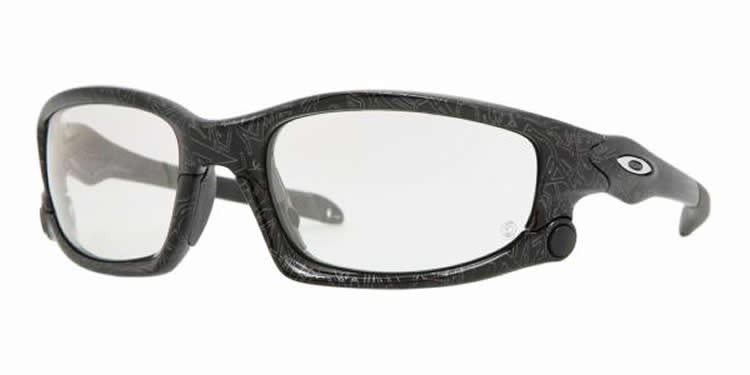 Oakley Split Jacket OO9099-07 Blk + Silv Text/ Transitions Sunglasses