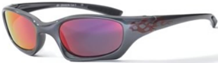 Bloc Junior Dragon J81 (8-12 Years) Anthracite / Red  Flame - Red Lens