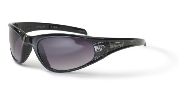 Bloc Stingray XR XG46 Shiny Black Graphics VE5 Vermillion Lens