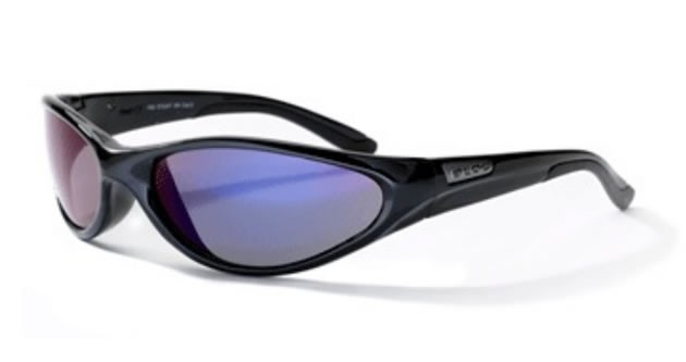 Bloc Stoat XR PB58 Shiny Black Polarized Blue Lens