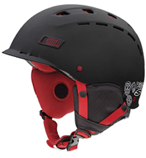 Smith Hustle Ski Helmet Matt Black / Red Day Of The Dead Large 59 - 63cm