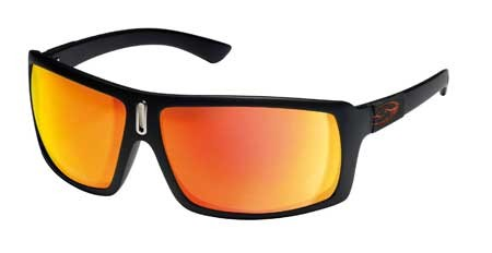 Smith Annex Sunglasses 9EF (UY) Black Matt (Red Mirror)