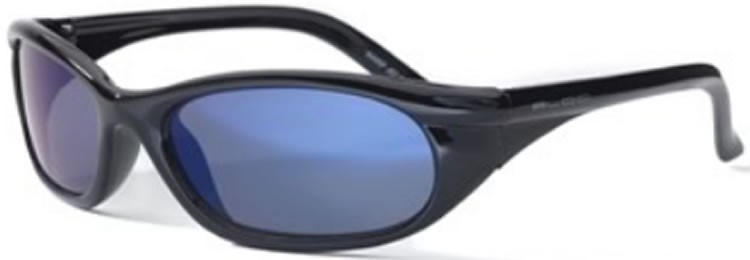 Bloc Junior Warp J87 (10-14 Years) Shiny Black - Blue Lens