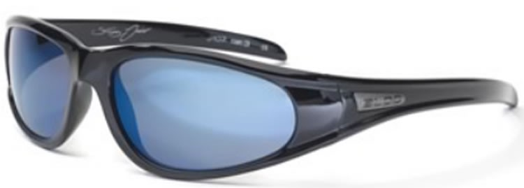 Bloc Junior Stingray J107 (14-Young Adult) Shiny Black - Blue Mirror Lens