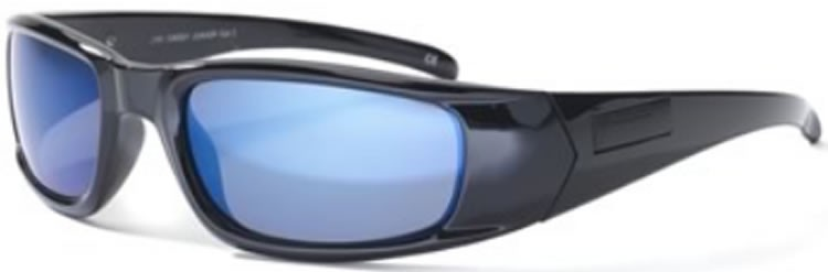 Bloc Junior Daddy J101 (7-10 Years) Shiny Black - Blue Lens