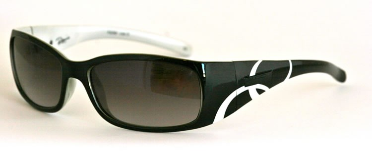 Bloc Reims F239 Black / White - Grey Smoke Lens