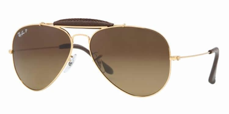 Ray-Ban 3422Q Colour 001/M7 Outdoorsman 58mm