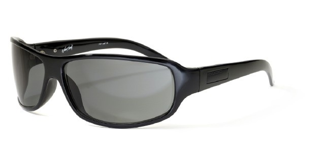 Bloc New York F61 Shiny Black SG12 Smoke Graduated Lens